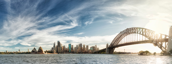 Sydney Harbor Bridge「Sunset over Sydney panorama」:スマホ壁紙(15)
