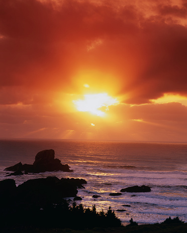 Ecola State Park「Sunset over the Pacific」:スマホ壁紙(17)