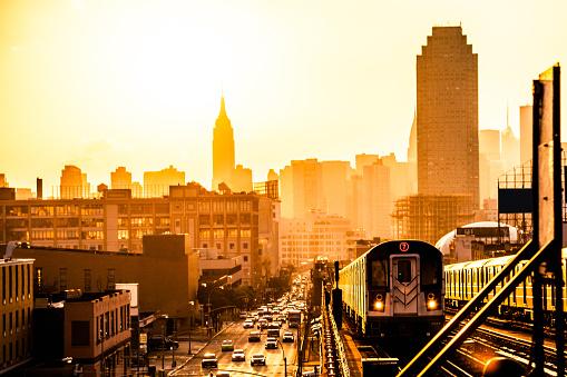 USA「Sunset over New York skyline」:スマホ壁紙(17)
