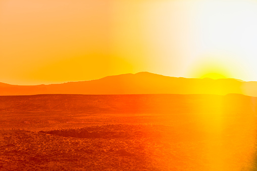 Sepia Toned「Sunset over desert landscape」:スマホ壁紙(7)