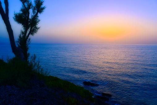 Aegean Sea「Sunset over Aegean Sea, Crete, Greece」:スマホ壁紙(11)