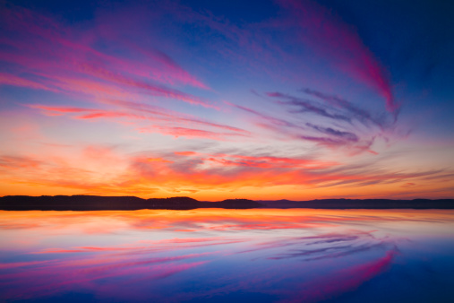 Lake Balaton「Sunset over water」:スマホ壁紙(19)