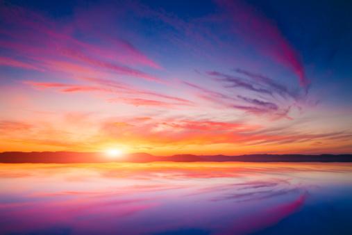Lake Balaton「Sunset over water」:スマホ壁紙(15)