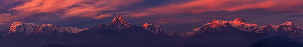 Annapurna Range「Sunset over Annapurna Range, Nepal」:スマホ壁紙(8)