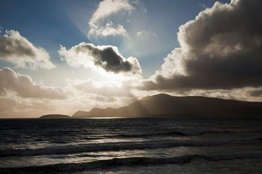 アキル島「Sunset Over Ocean Horizon; Keel Beach, Achill Island, County Mayo, Ireland」:スマホ壁紙(8)