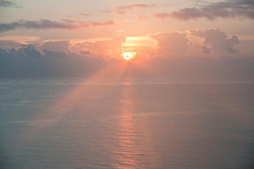 Miami Beach「Sunset over ocean」:スマホ壁紙(15)