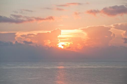 Miami Beach「Sunset over ocean」:スマホ壁紙(5)