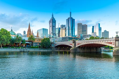 Melbourne - Australia「Sunset over Melbourne and Yarra River」:スマホ壁紙(17)