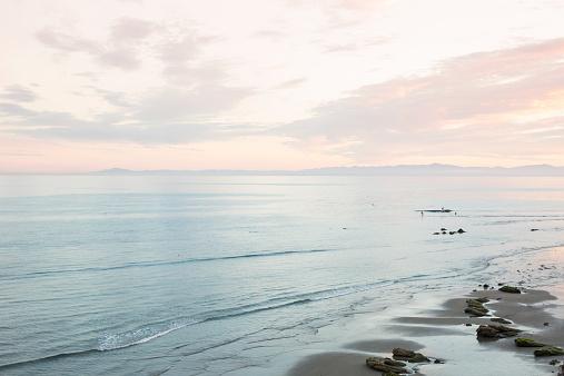 静かな情景「Sunset over pacific」:スマホ壁紙(7)