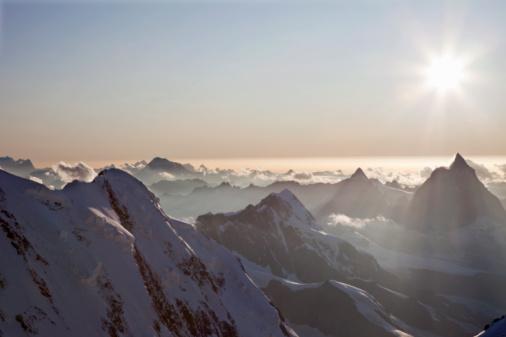 Extreme Terrain「Sunset over Swiss Alps」:スマホ壁紙(4)