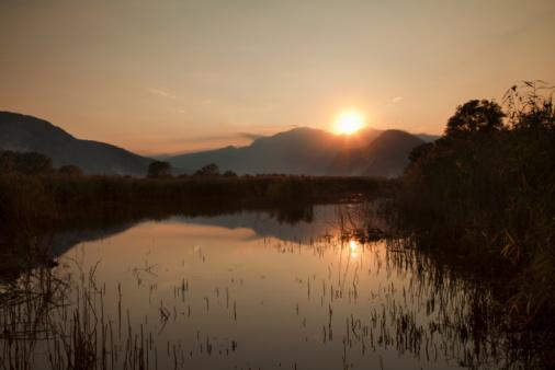 Piedmont - Italy「Sunset over a swamp」:スマホ壁紙(18)