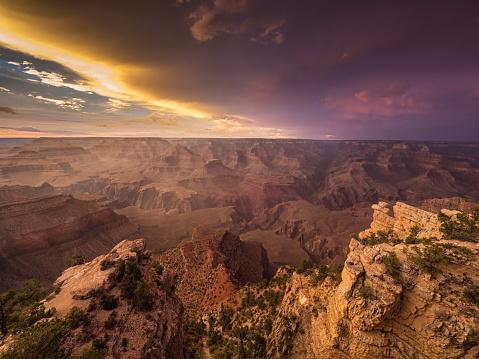 Natural Landmark「Sunset over Grand Canyon, Arizona, America, USA」:スマホ壁紙(13)