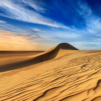Awe「Sunset over The Western Sahara Desert in Africa」:スマホ壁紙(13)