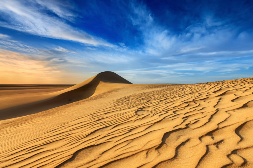 Awe「Sunset over The Western Sahara Desert in Africa」:スマホ壁紙(18)