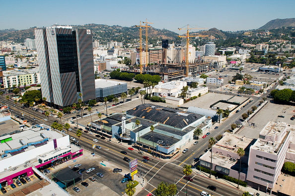 Copy Space「Large construction site with tower cranes, Hollywood, Los Angeles, California, USA」:写真・画像(12)[壁紙.com]