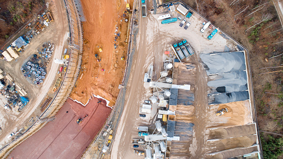 Road Construction「Large construction site - aerial view」:スマホ壁紙(13)
