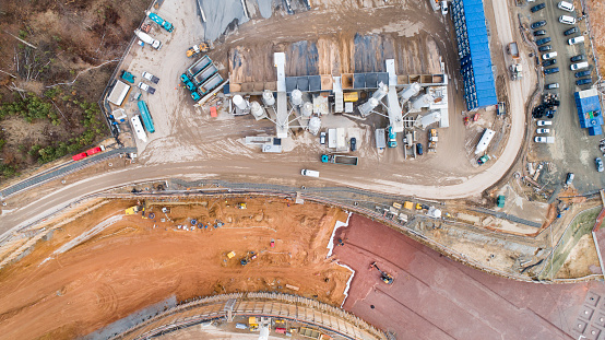 Road Construction「Large construction site - aerial view」:スマホ壁紙(12)