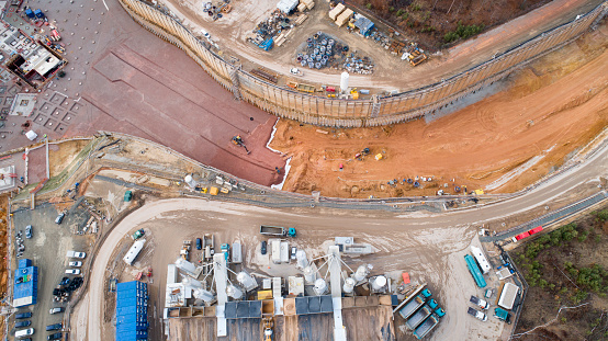 Earth Mover「Large construction site - aerial view」:スマホ壁紙(11)