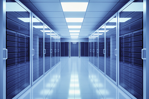 Blue「Data Center Interior」:スマホ壁紙(17)