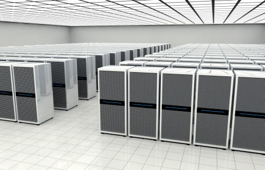 Data Center「Data center in a large bright room」:スマホ壁紙(16)