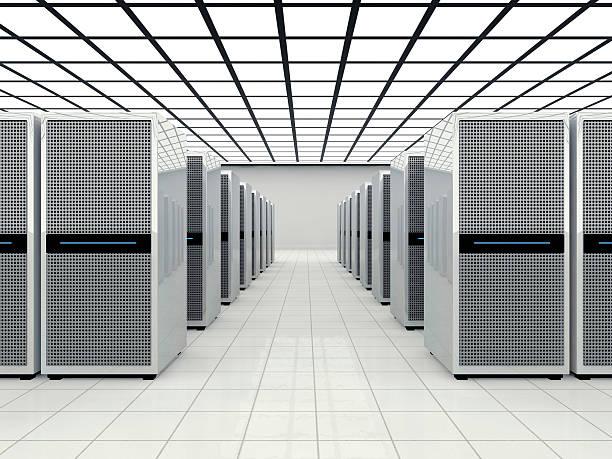Data center in a large bright room:スマホ壁紙(壁紙.com)