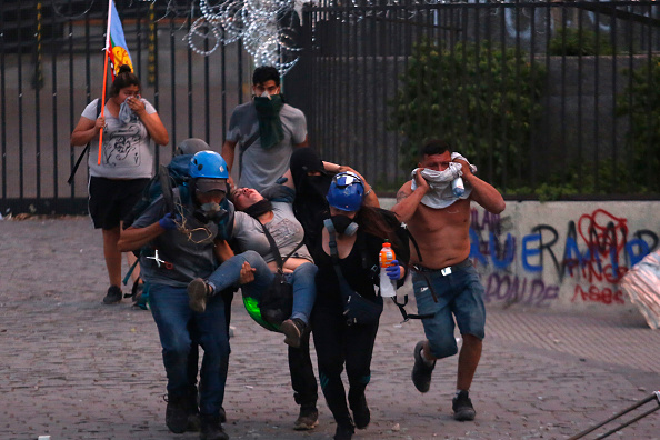 Marcelo Hernandez「Ongoing Protests In Chile」:写真・画像(4)[壁紙.com]