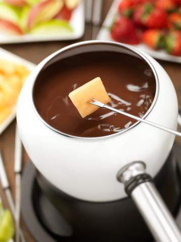 Milk Chocolate「Chocolate Fondue with Cantaloupe」:スマホ壁紙(9)