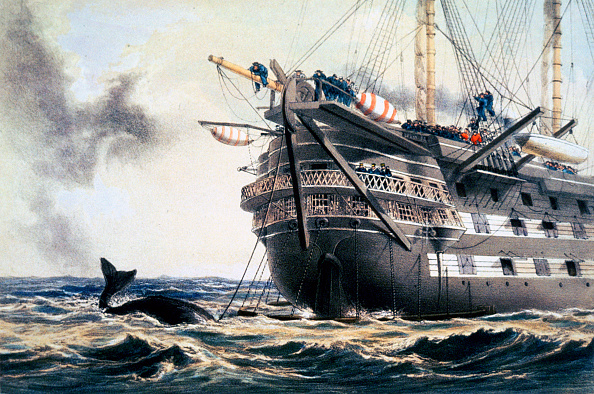 Aquatic Organism「HMS 'Agamemnon' Laying The Original Atlantic Telegraph Cable 1857 (1866)」:写真・画像(19)[壁紙.com]