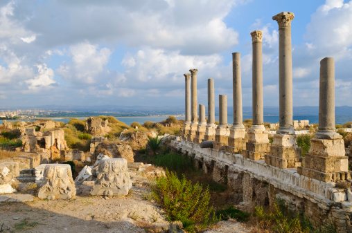 Ancient Civilization「Roman ruins by the sea in Tyre, Lebanon」:スマホ壁紙(1)