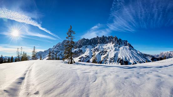 Salzkammergut「Winter Wonderland at Mount Hochkönig - Mandlwände - European Alps」:スマホ壁紙(14)