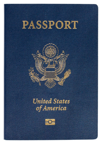 Coat Of Arms「Blue United States of America passport on white background」:スマホ壁紙(17)