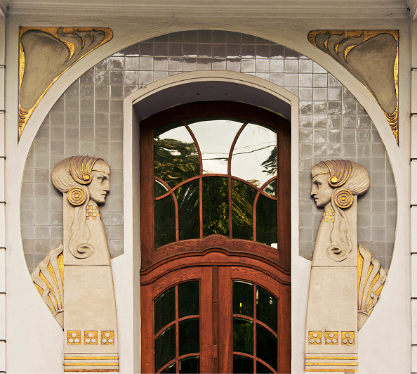 アールヌーボー「Entrance To An Apartment Building On Dannebergplatz 11」:写真・画像(6)[壁紙.com]
