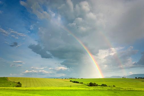 虹「景観、レインボー」:スマホ壁紙(19)