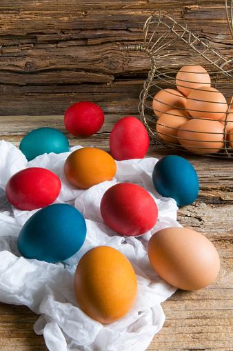 イースター「Colorful Easter eggs」:スマホ壁紙(2)