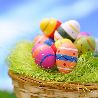 イースター「カラフルなイースター卵」:スマホ壁紙(12)