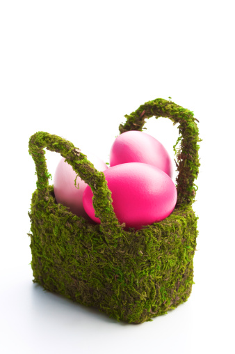 Easter Basket「Colorful Easter eggs in Easter baseket」:スマホ壁紙(6)