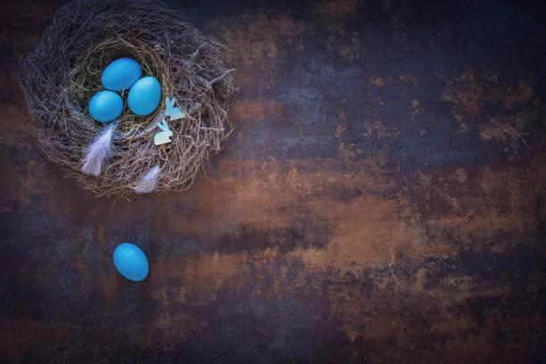 Colorful Easter Eggs Decoration on Wooden Background:スマホ壁紙(壁紙.com)