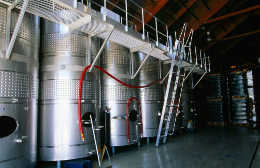 Marlborough - New Zealand「Steel vats for wine storage at Domain Georges Michel Winery.」:スマホ壁紙(13)
