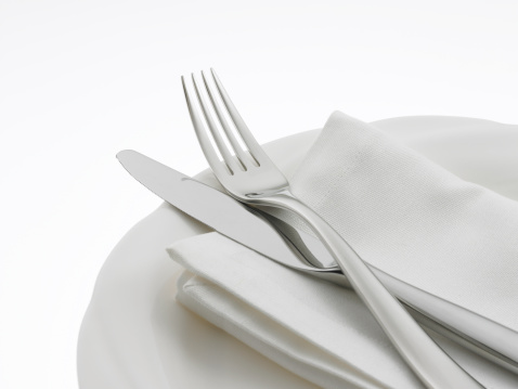 Place Setting「Napkin and Flatware on dinner plate」:スマホ壁紙(10)