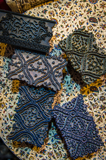 Iranian Culture「Fabric stamps at printing shop in the Great Bazaar」:スマホ壁紙(6)