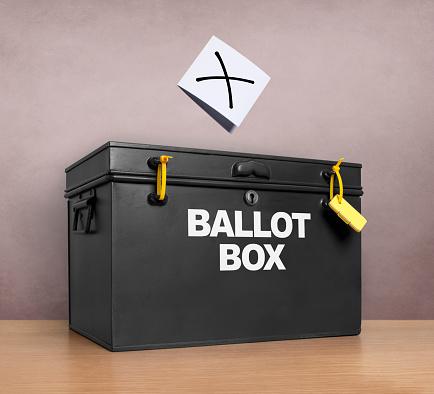 Voting Ballot「Paper marked with cross above ballot box」:スマホ壁紙(13)