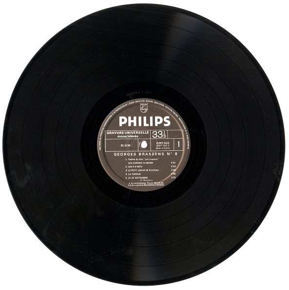 Audio Equipment「Hard original 33 rpm vinyl LP Philips Georges Brassens Les Copains d'abord 1964」:写真・画像(15)[壁紙.com]