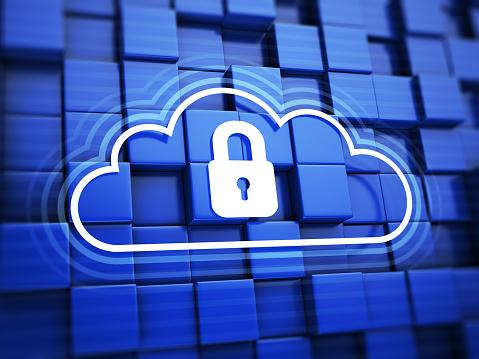 Data「Cloud with padlock」:スマホ壁紙(1)