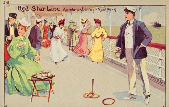 Edwardian Style「Peg Quoits On Board A Red Star Line Passenger Ship」:写真・画像(8)[壁紙.com]