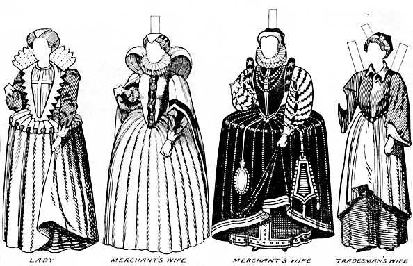 Elizabethan Style「The Great Gallery Of Costume: Varied Dresses Worn In The Days Of Elizabeth」:写真・画像(19)[壁紙.com]