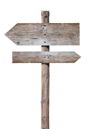 Pole「Wooden signs on white」:スマホ壁紙(3)