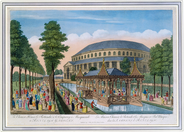 Etching「Chinese House Rotunda And The Company In Masquerade Ranelagh Gardens London 18th Century」:写真・画像(19)[壁紙.com]
