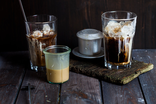 Vietnamese Culture「Vietnamese iced coffee with strong coffee, sweetened condensed milk, ice」:スマホ壁紙(3)