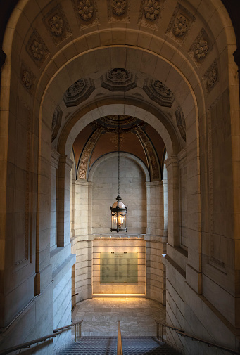 Manuscript「New York Public Library, Stephen A. Schwarzman Building, ornate staircase, Manhattan, New York City, New York, USA, North America」:スマホ壁紙(7)