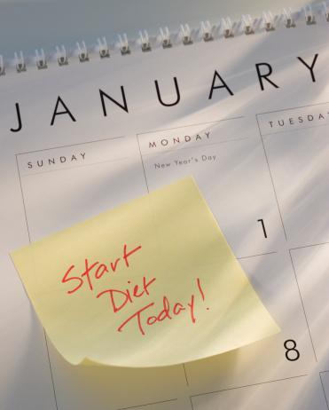 お正月「Sticky note on calendar」:スマホ壁紙(17)